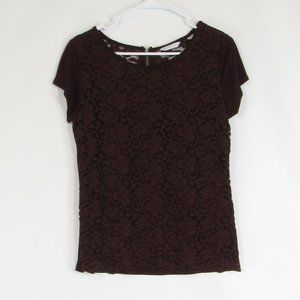 Warm brown NEW YORK & COMPANY knit blouse M